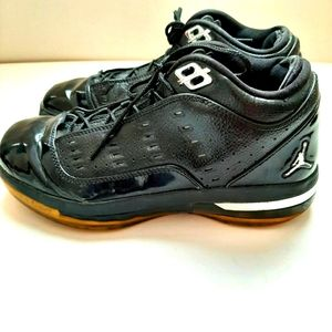 Black Jordan Leather Shoes